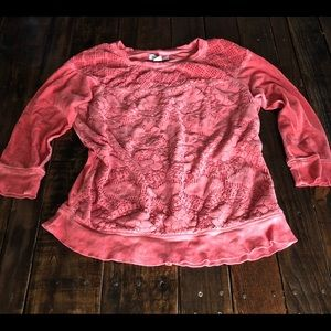 🌷3 for $30 - Lucky Brand Top in Coral Sz M